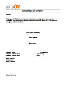 Sales Proposal Template: Free Download, Edit, Fill, Create and Print