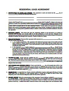 Sample Lease Agreement Template: Free Download, Create, Edit, Fill and Print