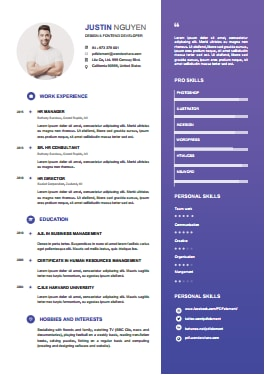 Resume Template - Silent Blue