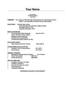 Free Simple Blank CV Download