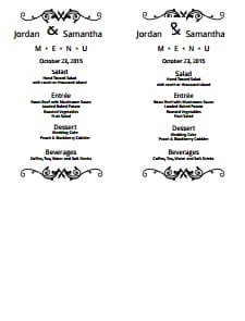 Wedding Menu Template: Free Download, Edit, Fill, Create and Print