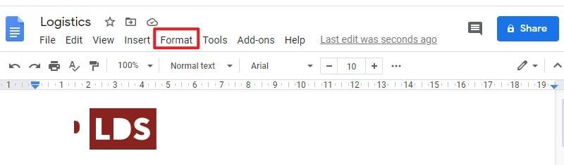 insert superscript in google docs