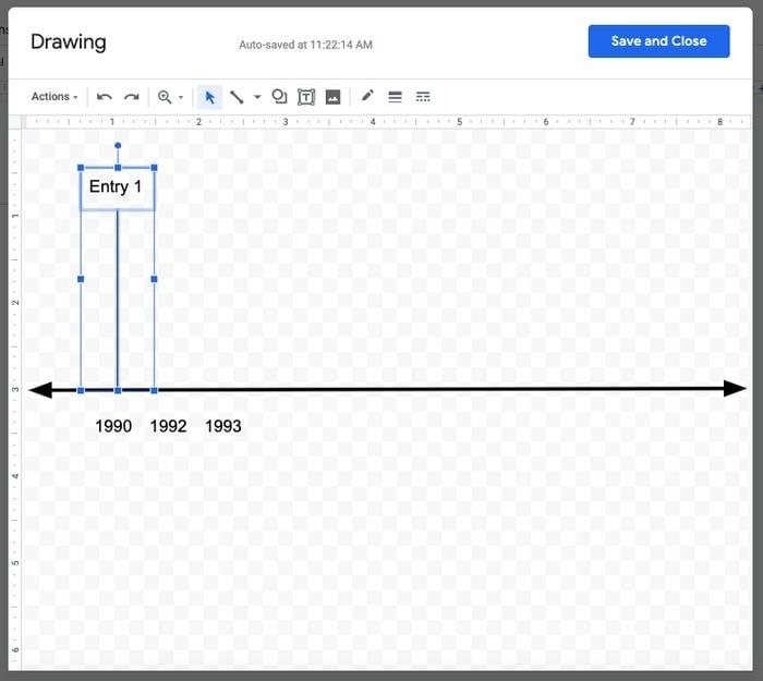 create a timeline in google docs