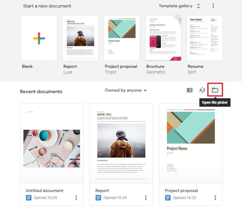 upload files on google docs