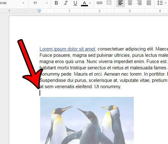 separate pages in google docs