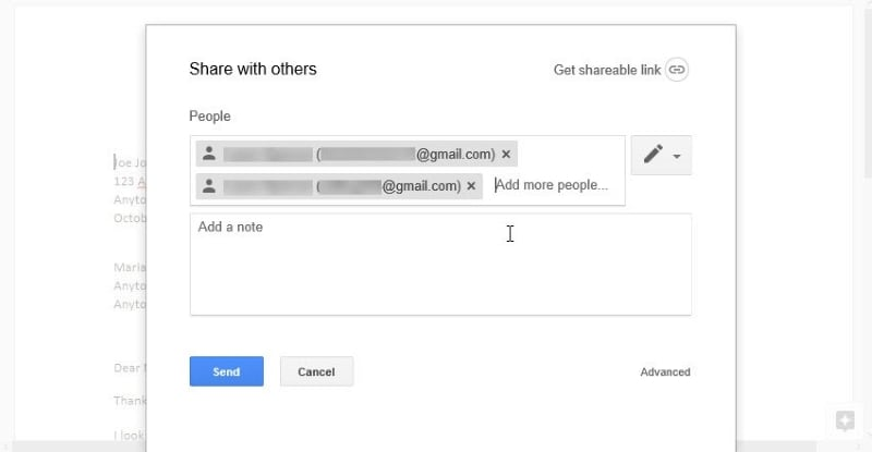 share a google doc
