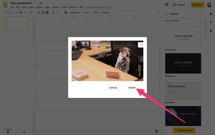 add gif to google slides