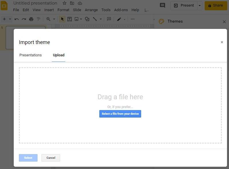 import google slides themes