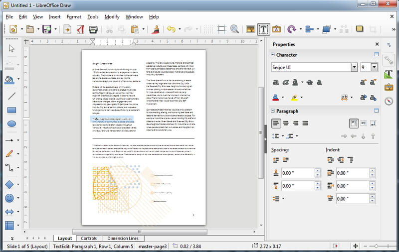 pdf in libreoffice