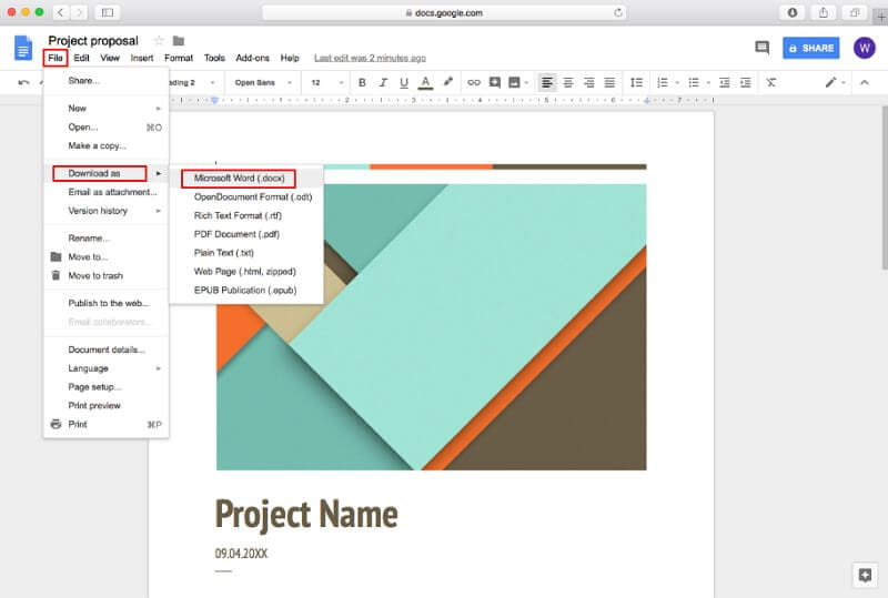 change pdf to word mac