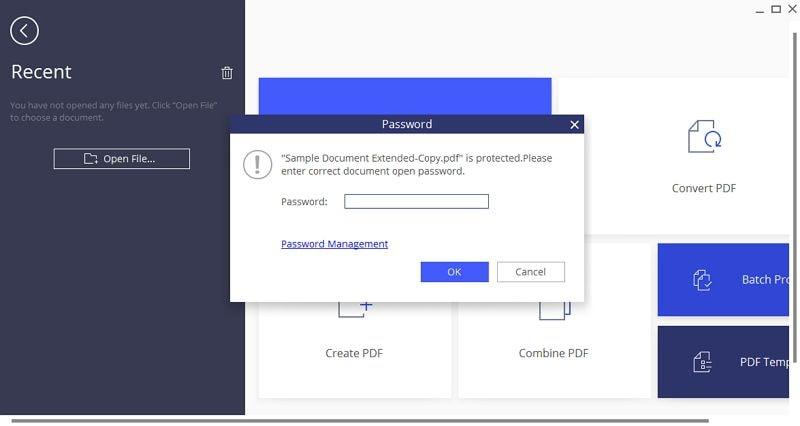apri pdf protetto da password