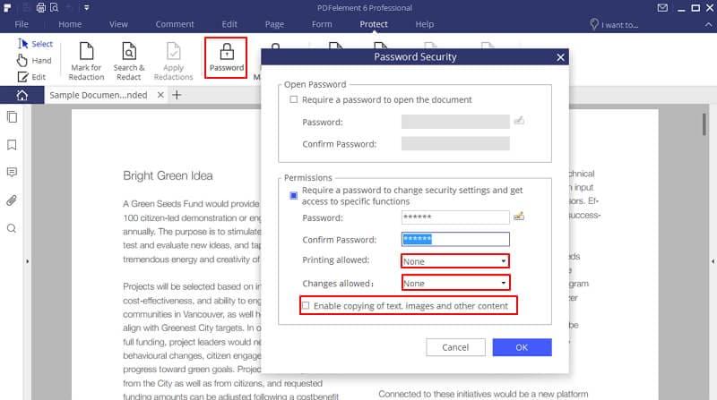 wie Sie pdf-Dateien vor dem Kopieren schützen