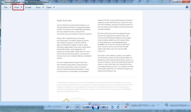 how to convert jpg to pdf on windows 7