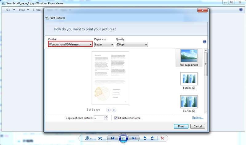 wie man JPG-Datei in pdf konvertiert