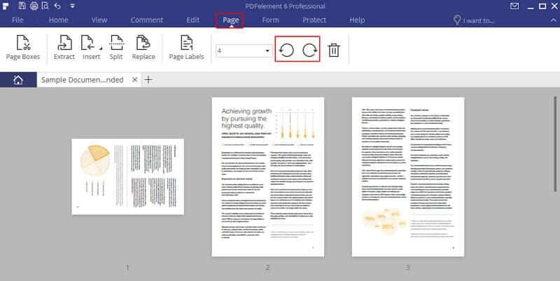 mudar pdf para paisagem