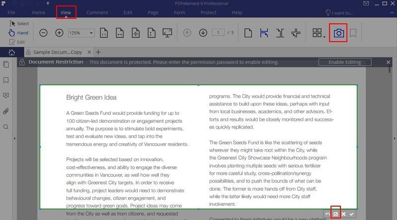 come fare copia e incolla di pdf protetti