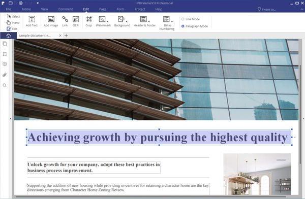pdf editor to edit pdf