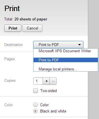 salvare pdf da google chrome