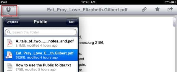pdf auf ipad übertragen ohne itunes mit dropbox