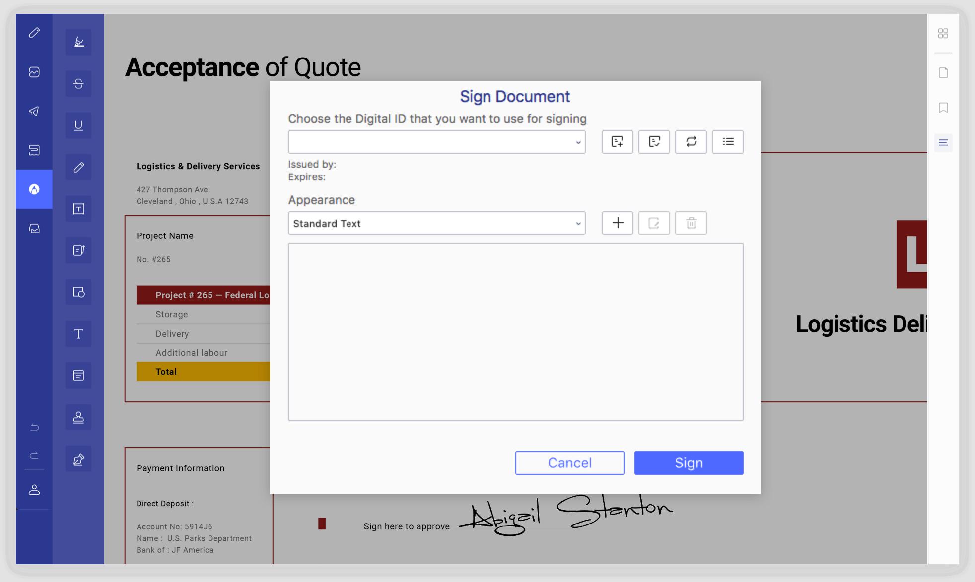 Apply Digital Signatures