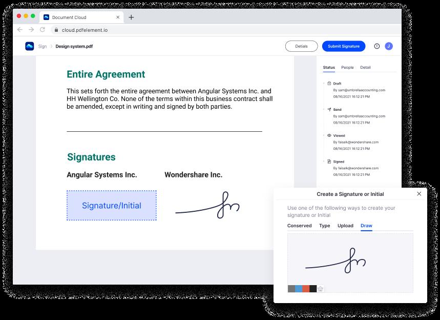 オンラインストレージ署名ツールDocument Cloud