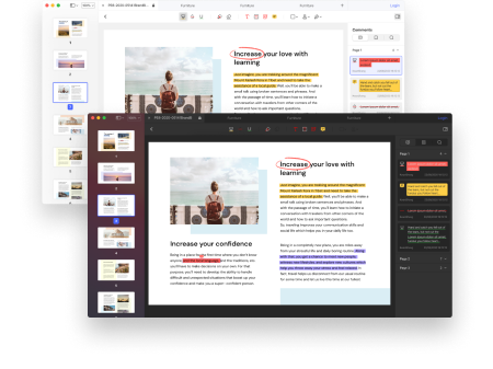 PDF編集ソフトのダーク&ライトモード