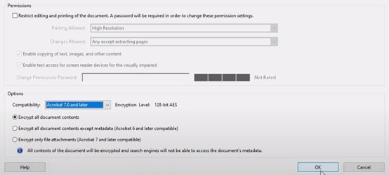 encrypt all document contents