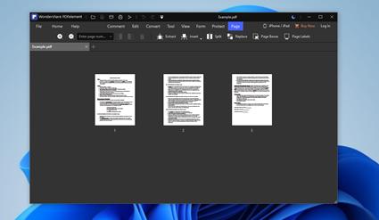 use pdfelement to merge