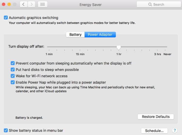 risolvere problemi di batteria su macbook pro con macos 10.14