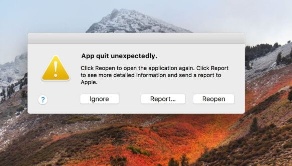 fix an app crash on your mac for macos 10.14