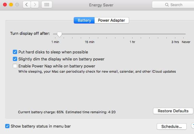 risolvere problemi di batteria macbook pro con macos 10.14