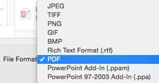 how to save powerpoint as pdf on macos 10.14