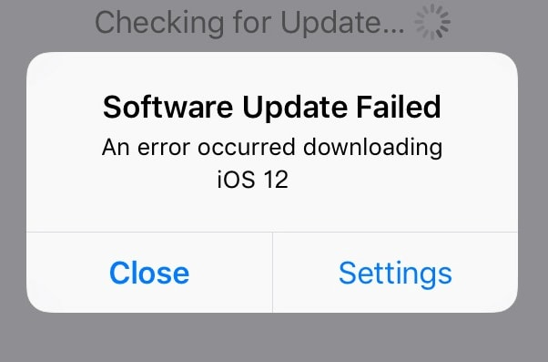 stuck issue about ios 13 update