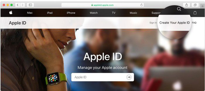 create an apple id on my macos 11