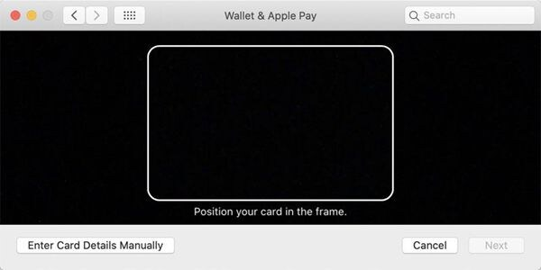 set up, use apple pay on a macbook pro on macos 11