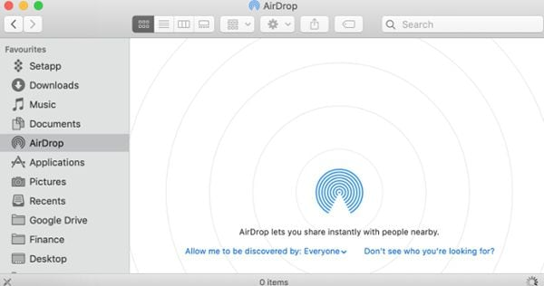 fix airdrop not showing or working on macos 11