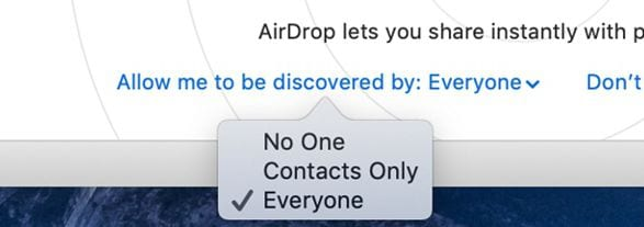 fix airdrop problems on macos 11