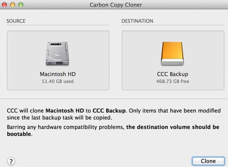 cloning of external hard drive