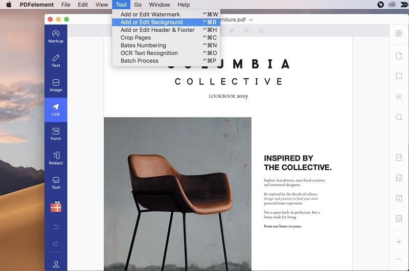 Hinzufügen von Hintergrund zu PDF auf Mac