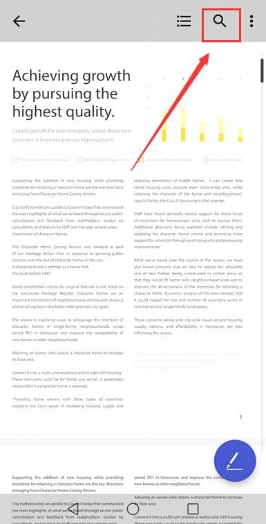 Text im PDF suchen