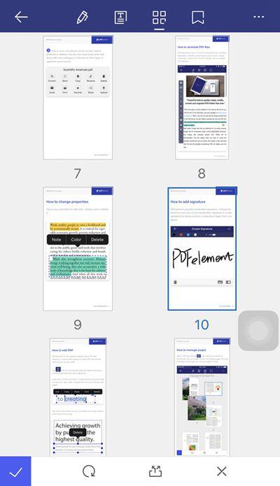 извлечь страницу из pdf на ipad