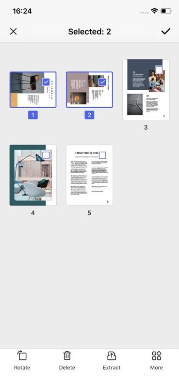 rotate pdf on ipad