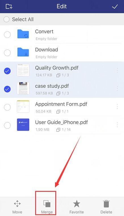 unisci app pdf