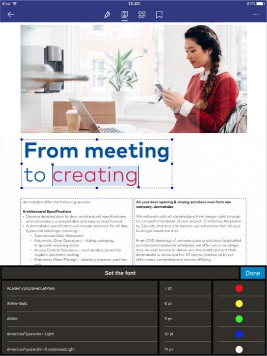 cómo escribir en pdf en el ipad