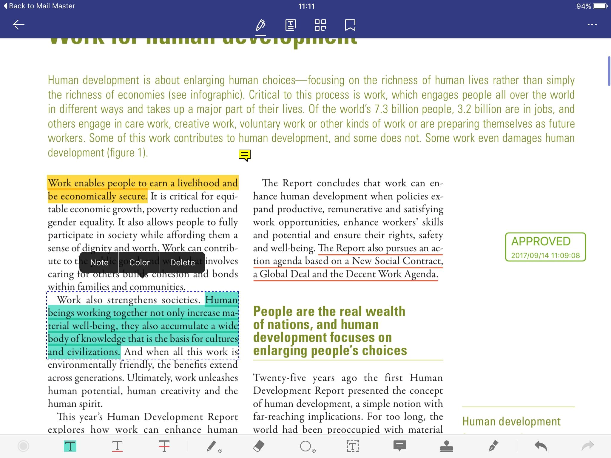 evidenzia i pdf su iphone