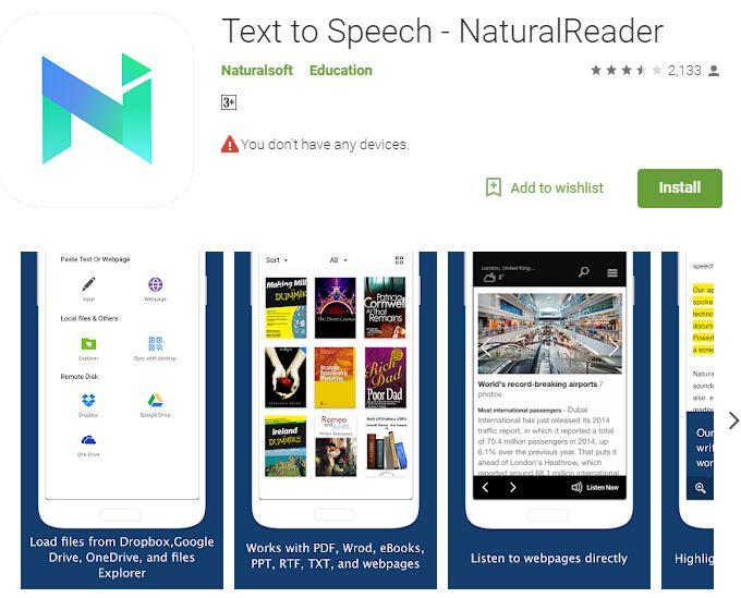 da testo a parlato android