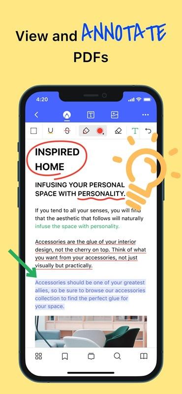 PDF-App zum Markieren