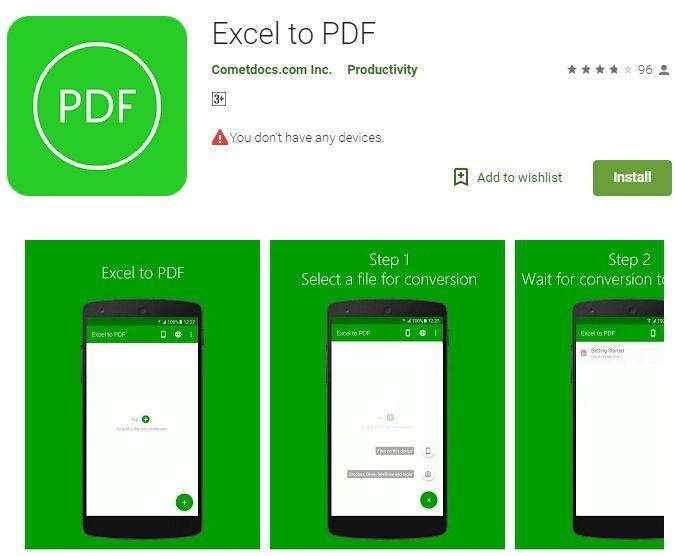 excel zu pdf converter für android