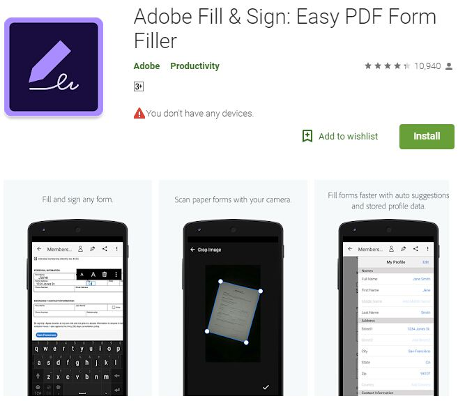 modifica pdf su android
