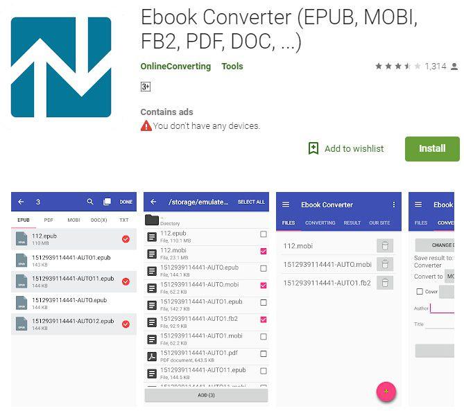 epub zu pdf converter